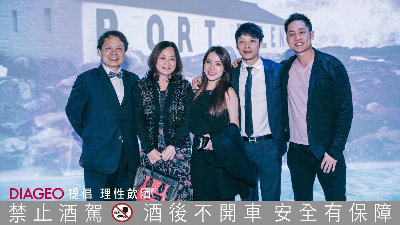 潘振雄(左)、龐淑芬、吳品璇、潘家鋒、龐宇崴