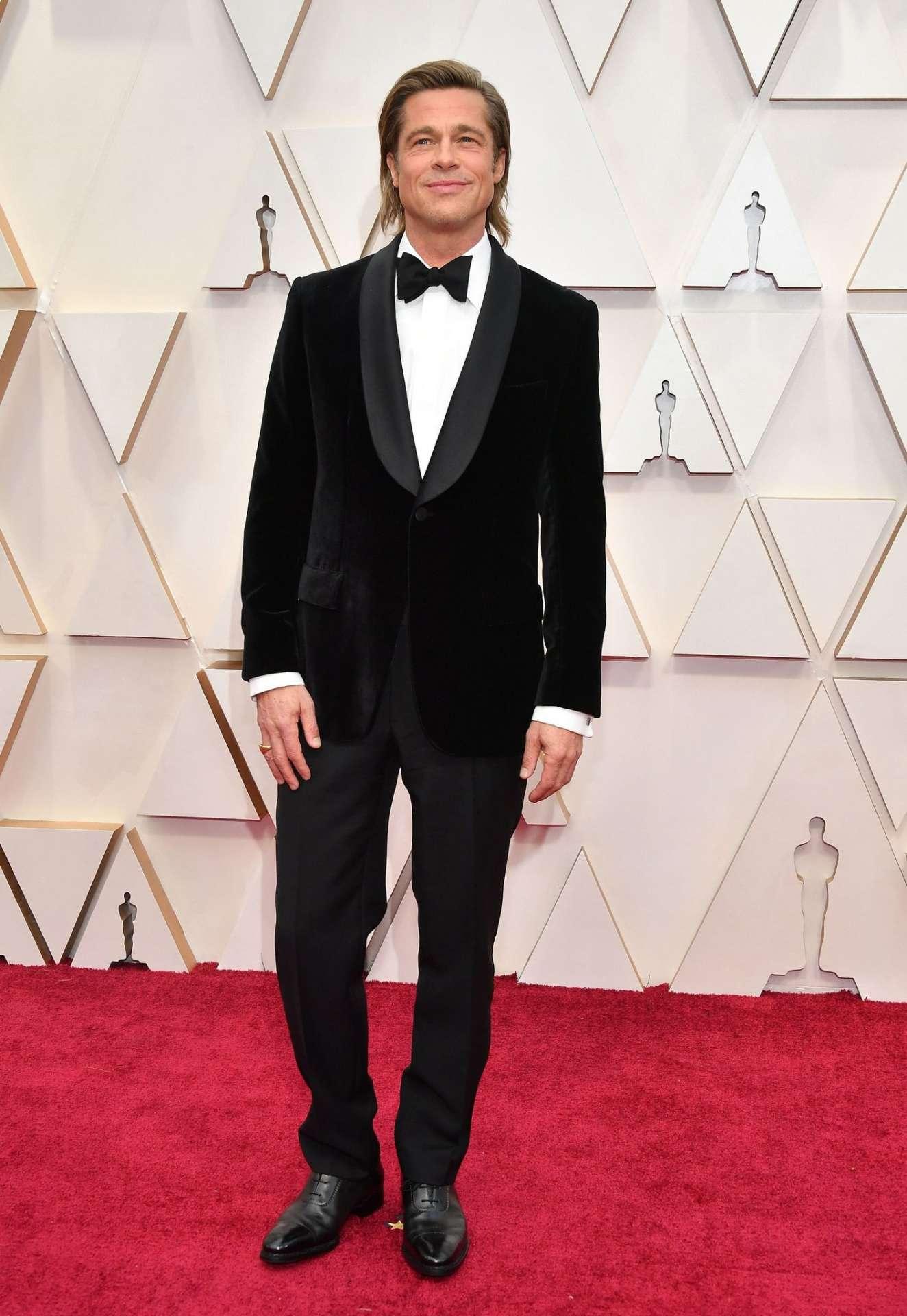 Brad Pitt velvet Brioni tuxedo