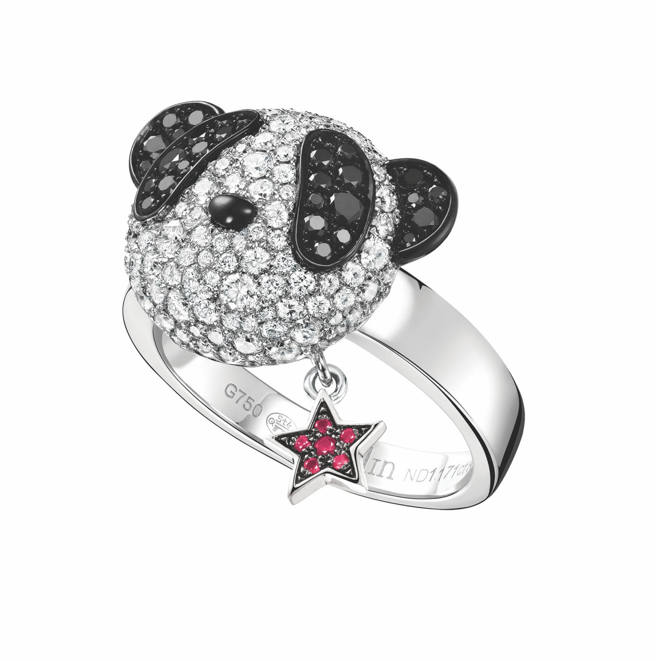 Qeelin_Small Classic Bo Bo 18K 白金鑲鑽及黑鑽石戒指 NTD339,000 (BB-030-RIAS-WGDRU)_batch