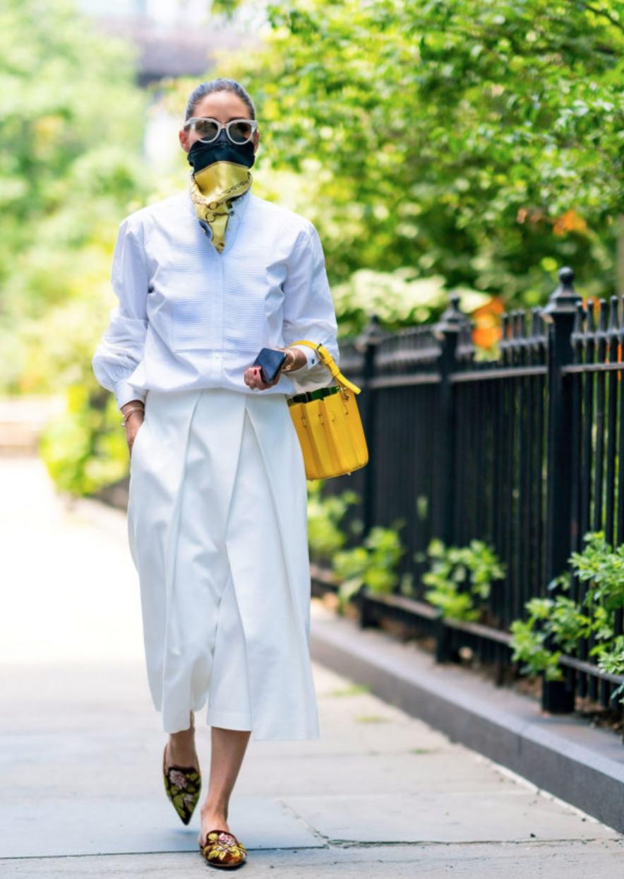 紐約女王 Olivia Palermo 的八種口罩穿搭術