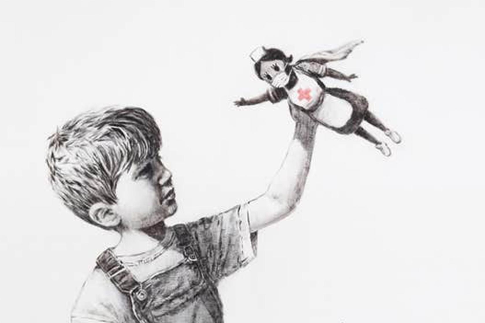 街頭藝術家再次出擊!Banksy向真正的英雄致敬