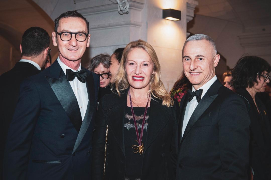 (從左至右)前Roger Vivier創意總監Bruno Frisoni, 藝術大師畢卡索孫女藝術史學家Diana Widmaier Picasso, 法國設計名家Hervé van der Straeten